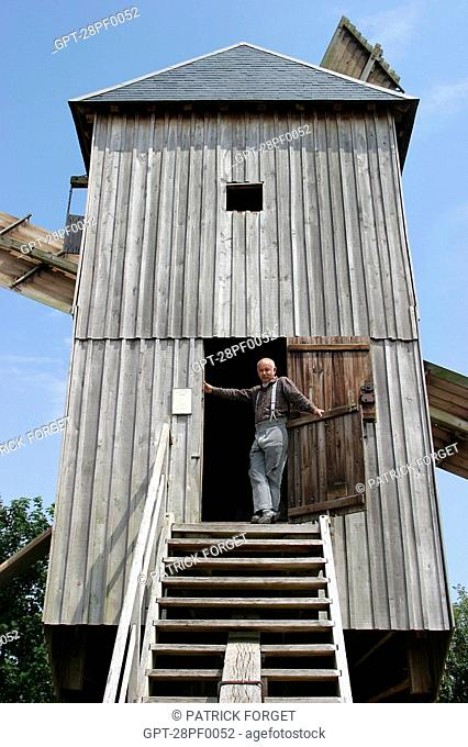THE MILLER OF THE OUARVILLE MILL, THE WHEAT ROUTE, EURE-ET-LOIR 28, FRANCE