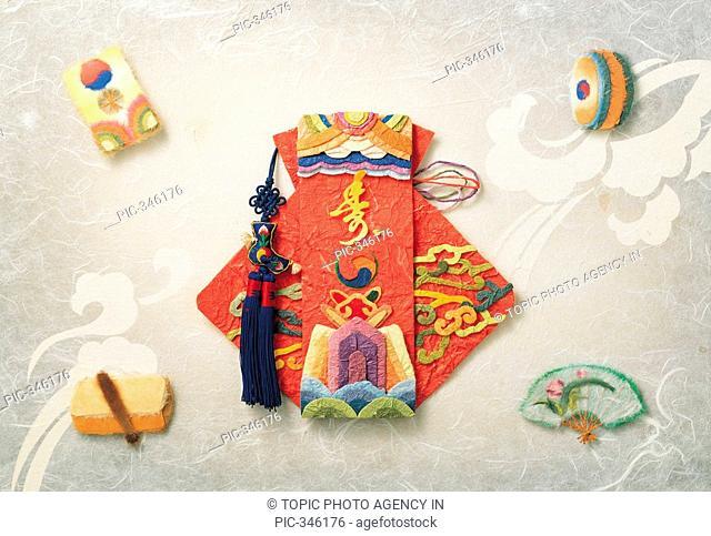 Paper Illustration,Lucky Bag