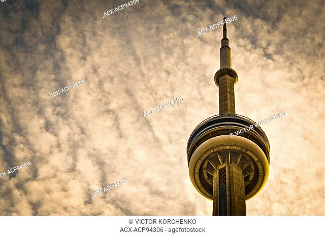 CN Tower and cloudy sky