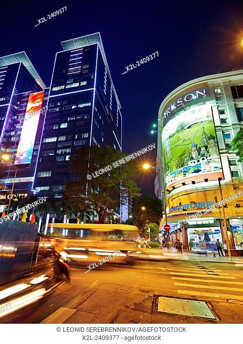 Ho Chi Minh City at night, Vietnam