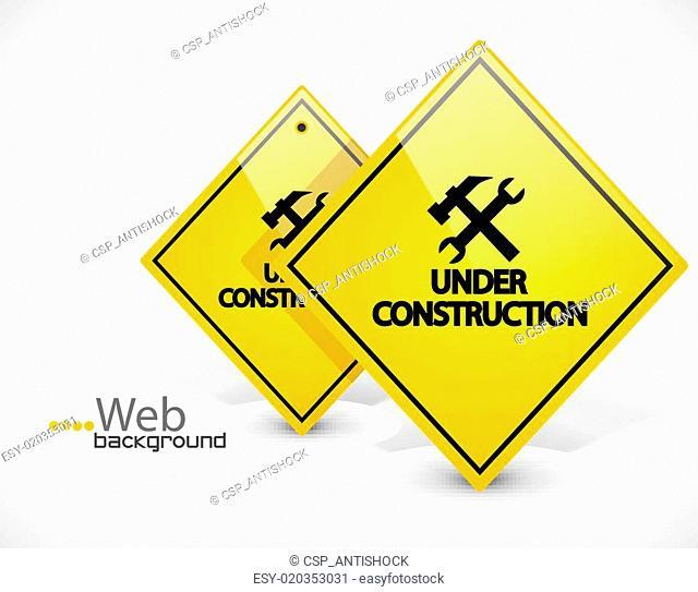 Under construction vector background