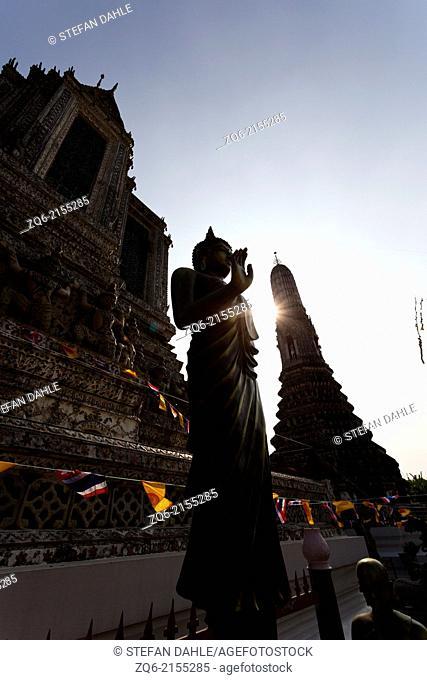 Sculpture in the Temple Wat Arun in Bangkok, Thailand