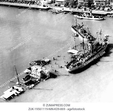 Nov. 19, 1956 - Port Said, Egypt - Suez Crisis also called Suez-Sinai War was the Israel-Egypt encounter at the end of October and the beginning of November...