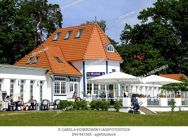 D, Europe, Brandenburg, Scharmuetzelsee, Bad Saarow, Restaurant, Building, House, Gastronomy