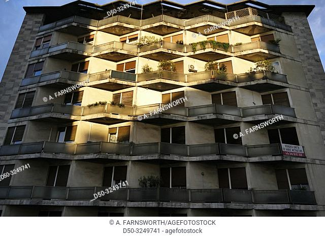 Vicenza, Italy A residential building in the early morning