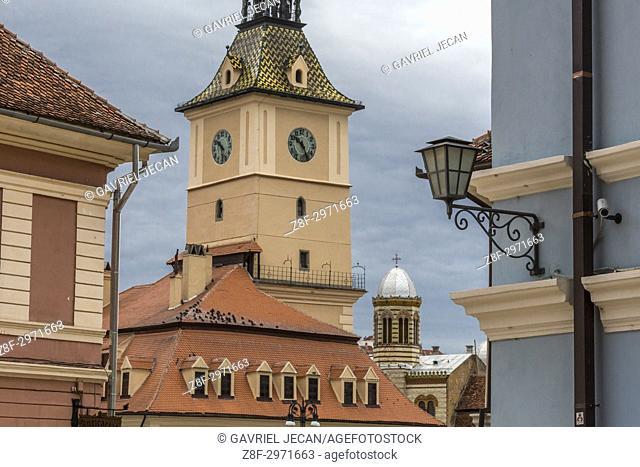 Historical architecture of Brasov city. Romania