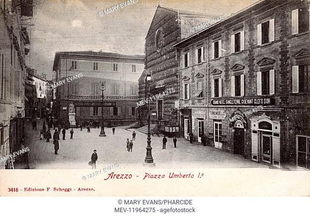 Piazza Umberto I, Arezzo, Italy