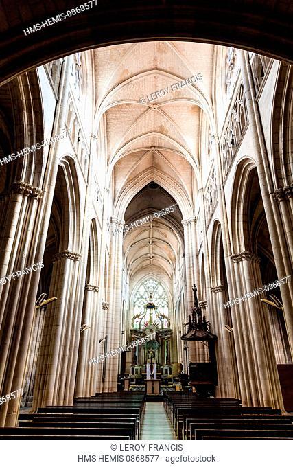 France, Vendee, Lucon, inside of Notre Dame de l'Assomption cathedral