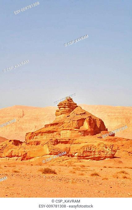 Monument from sandstone Screw