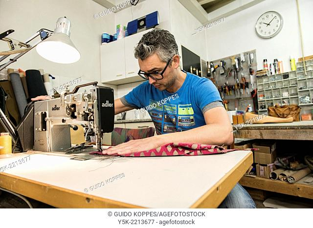 Tilburg, Netherlands. Josef works as an independent upholsterer in his own workshop, down town Tilburg, where he refurbishes and upholsters all kinds of chairs