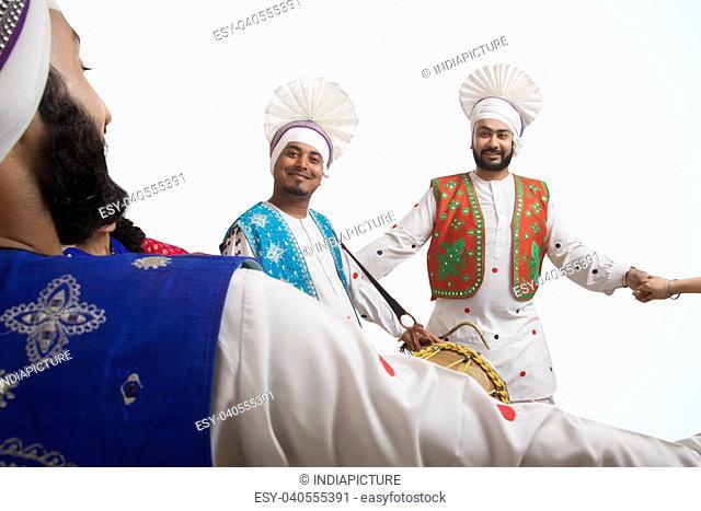 Portrait Of Bhangra Dancers