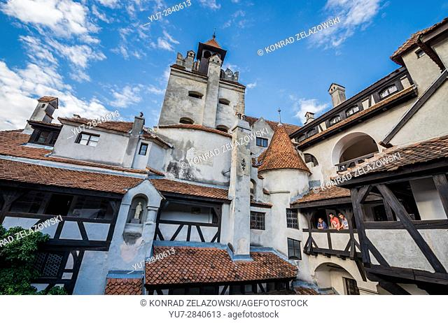 "Bran Castle near Bran, Romania, commonly known as """"Dracula's Castle"""", home of title character in Bram Stoker's """"Dracula"""" novel"