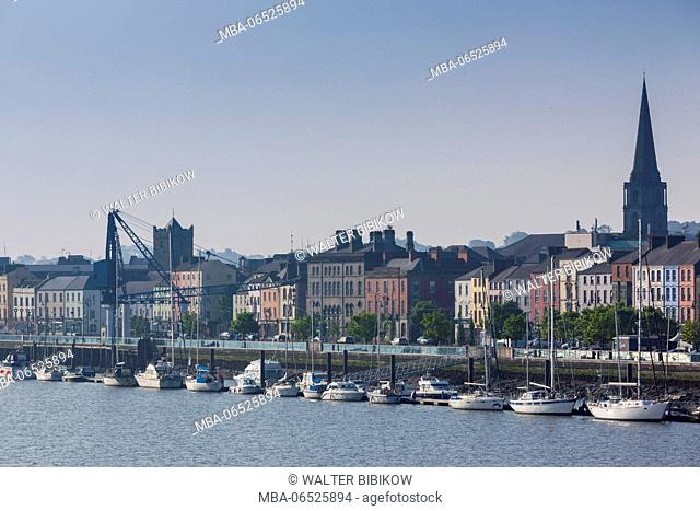 Ireland, County Waterford, Waterford City, skyline, morning