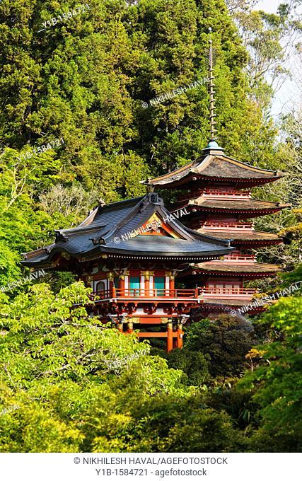 Temple Gate & Pagoda, Japanese Tea Garden, San Francisco