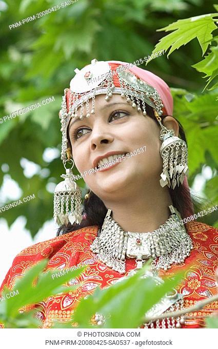 Close-up of a woman smiling, Jammu And Kashmir, India
