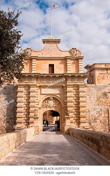 Main Gate into Mdina, Malta