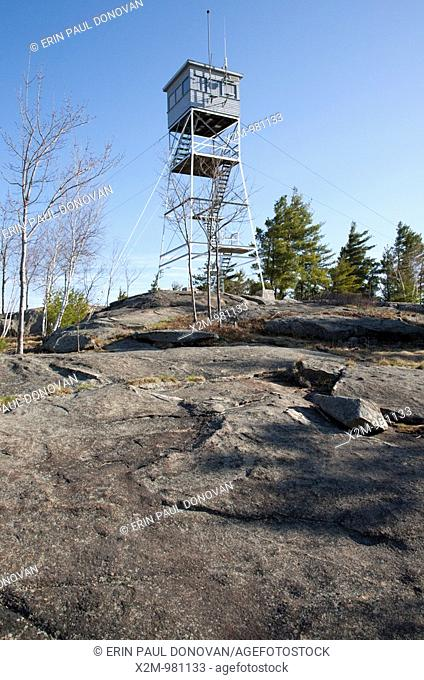 Fire Tower at Pawtuckaway State Park during the spring months  Located in Nottingham, New Hampshire, USA