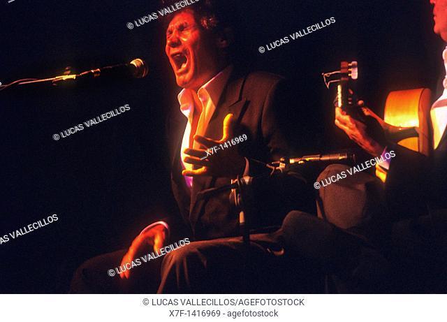 `Agujetas'Manuel de los Santos Pastor Flamenco Singer Festival flamenco of Albaicin  Granada, Andalusia, Spain