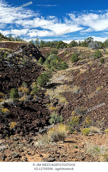Grants, New Mexico - A lava trench in the El Calderon area of El Malpais National Monument