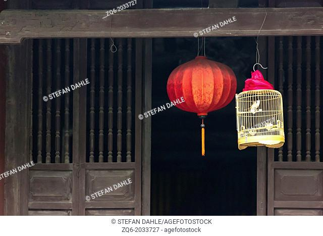 Chinese Lantern in the Temple of the Jade in Hanoi, Vietnam