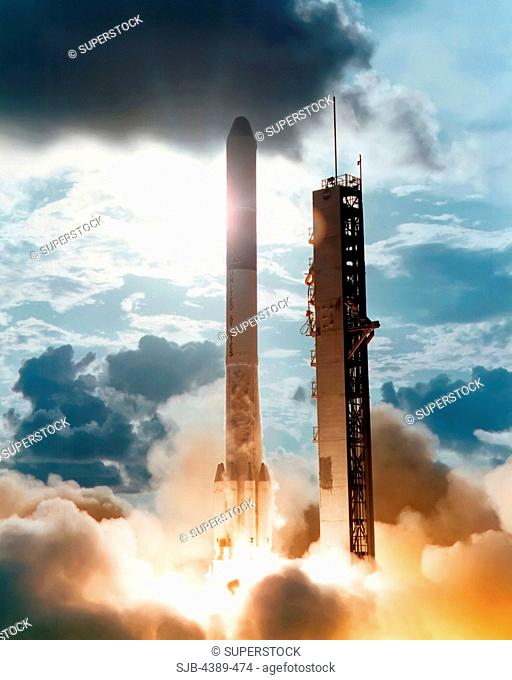 Delta Rocket Launching Satellite