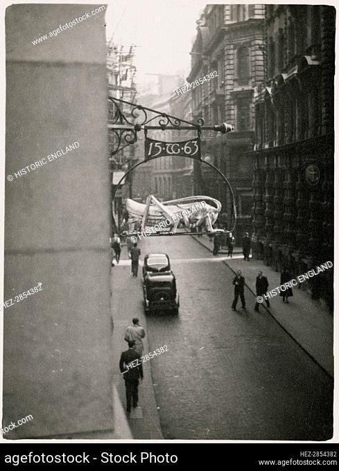Martins Bank, Lombard Street, City and County of the City of London, GLA, 1950-1953. Creator: JR Uppington