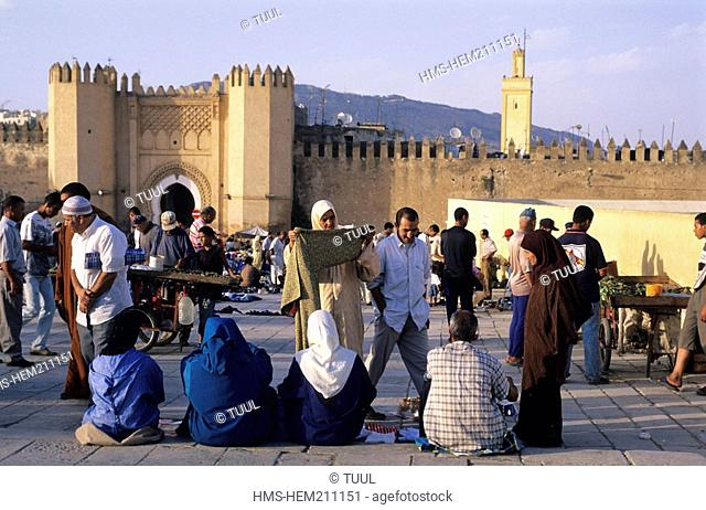 Morocco, Fes, imperial town, medina listed as World Heritage by UNESCO, Fes El Bali district, Bab Churba Gate