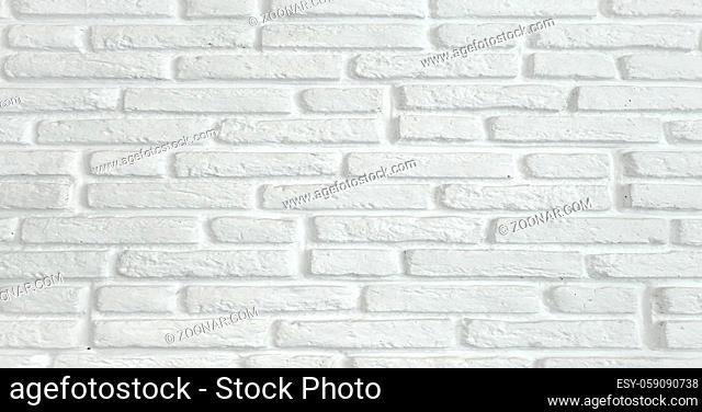 White grunge brick wall texture background. Background texture of white brick wall