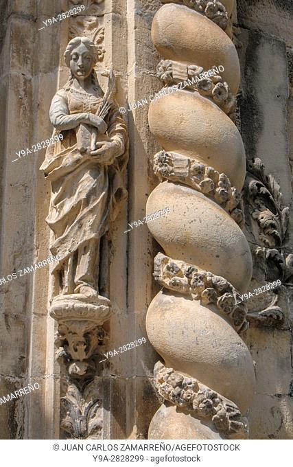 Tortosa, historical downtowm, Cathedral, Portada de la Olivera, XVIIIth century, Tortosa, Ebro river, Tarragona, Catalunya, Spain