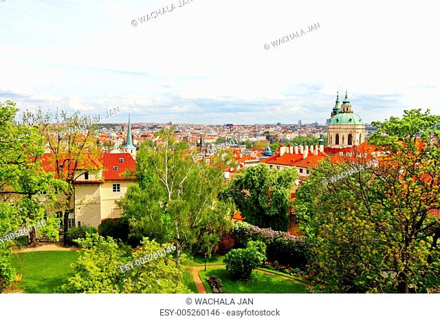 Colored picture of Prague