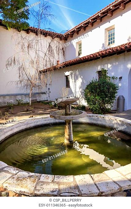 Mission San Luis Obispo de Tolosa Courtyard Fountain California