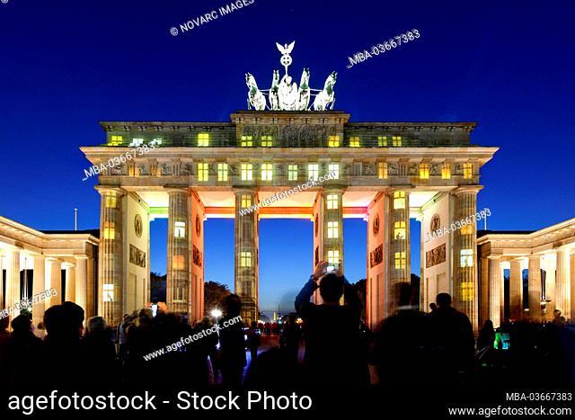 Illumination, Brandenburg Gate, Berlin, Germany