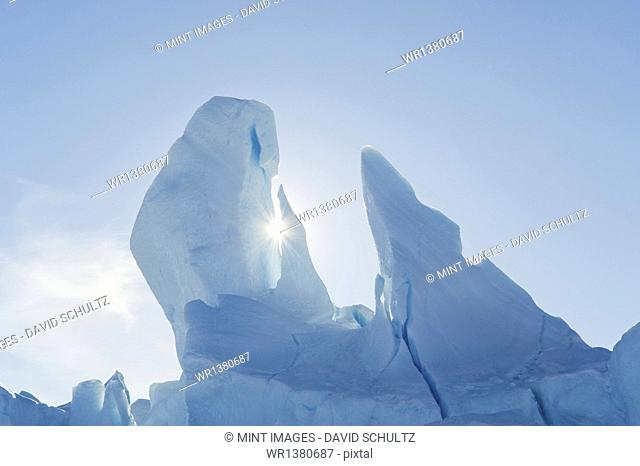Iceberg along the Antarctic Peninsula near Snow Hill Island in the Weddell Sea