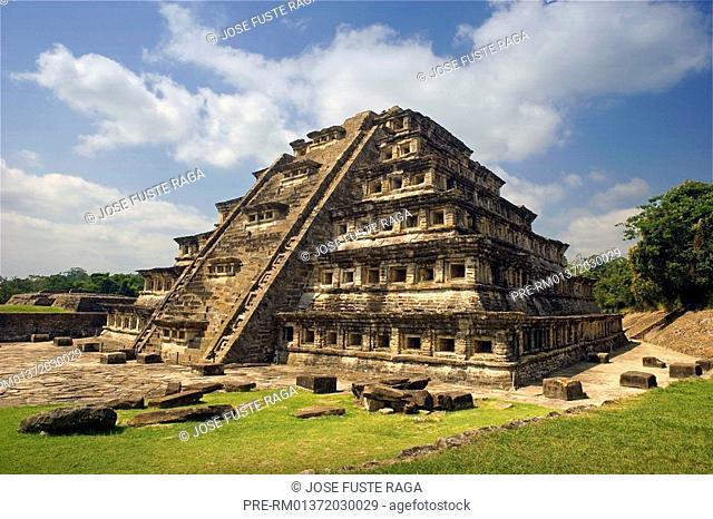 Pyramid of the Niches, Piramide de los Nichos, El Tajin, Veracruz state, Mexico