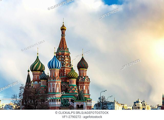 Russia, Moscow, Red Square, Kremlin, St. Basil's Cathedral