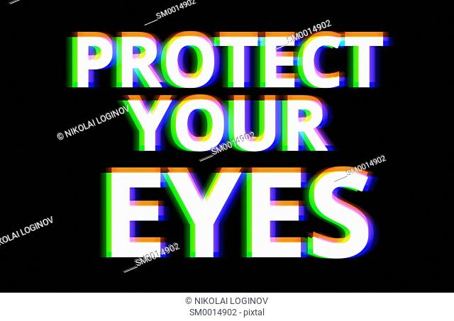 Protect your eyes illustration background