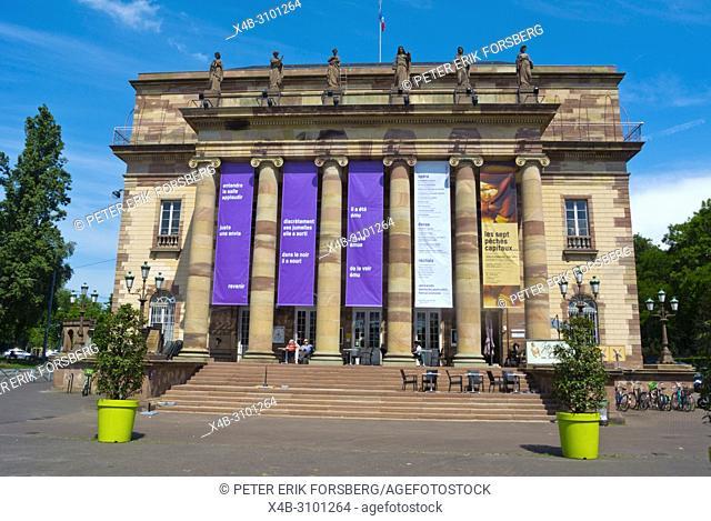 Opera National du Rhin, Place Broglie, Grande Ile, Strasbourg, Alsace, France