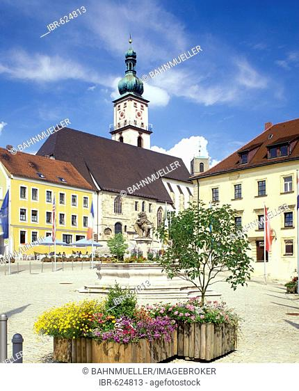 Sulzbach-Rosenberg Upper Palatinate Bavaria Germany town spare in front of the parish church Mary Assumption
