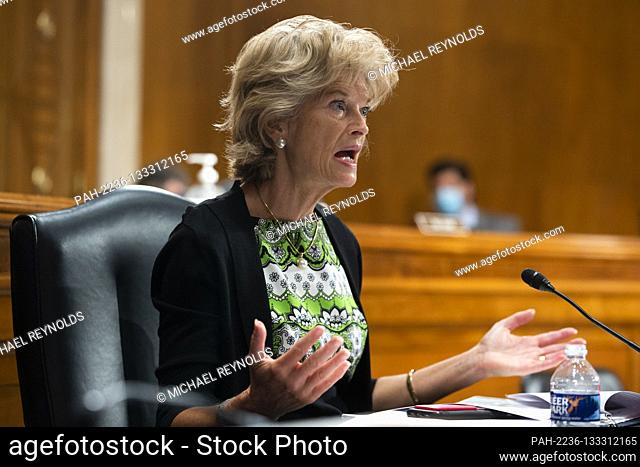 United States Senator Lisa Murkowski (Republican of Alaska) speaks during the US Senate Health, Education, Labor, and Pensions Committee hearing to examine...