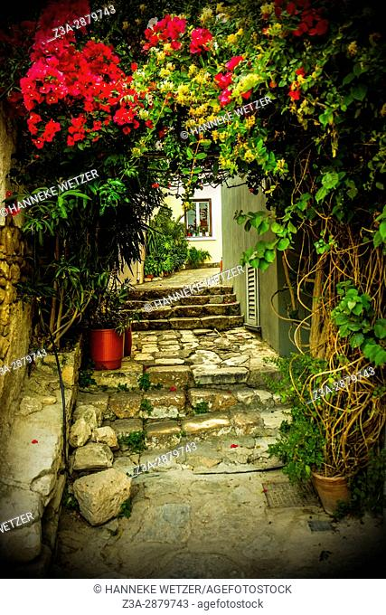 Plaka district in Athens, Greece, Europe