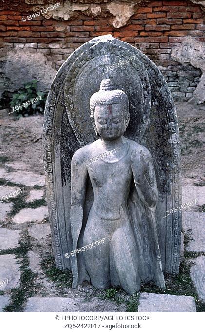 Pashupatinath temple. Standing Buddha. Dated: 1000 A. D. Nepal