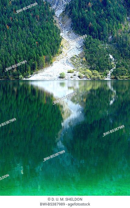 clear lake Plansee in autumn in Tirol, Austria, Tyrol