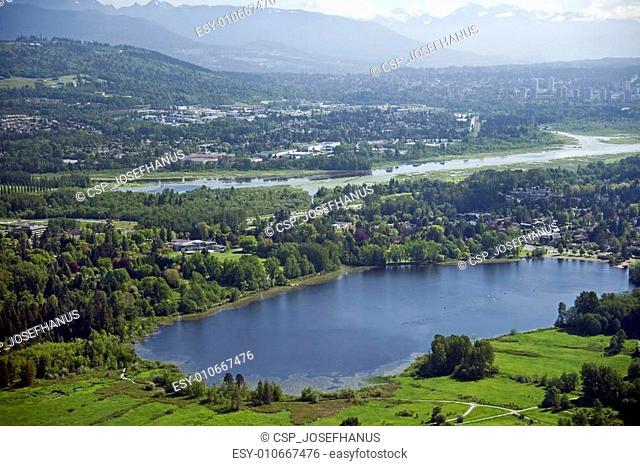 Deer Lake and park in Burnaby, British Columbia