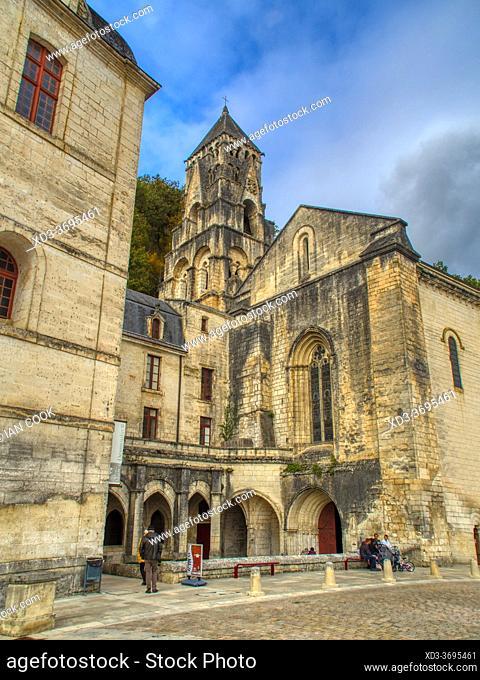 Brantome Abbey, Brantome, Dordogne Department, Nouvelle-Aquitaine, FranceFrance