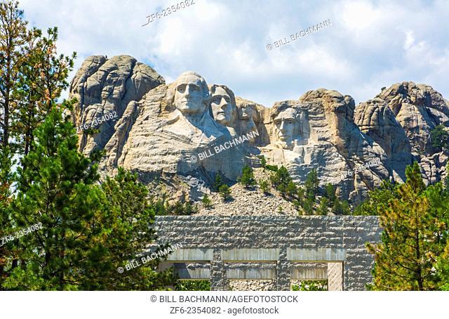 Mount Rushmore South Dakota Keystone National Memorial of Presidents in stone on mountain landmark attraction USA
