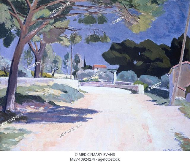 Landscape, Cassis' – 1923/4 – road with trees