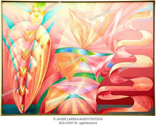Symphonie en rose, 1946. Henry Valensi. Centre George Pompidou. Musee National d'Art Moderne. Paris. France