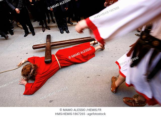 Italy, Sicily, Marsala, Holy Thursday, procession of Mysteries (processione dei Misteri viventi)
