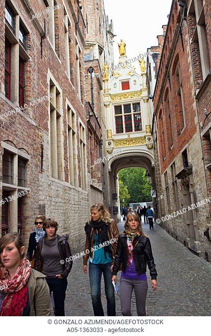 Burg Square  Bruges, Brugge, Flanders, Belgium, UNESCO World Heritage Site