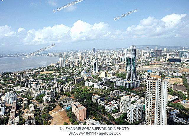 aerial view of worli sea face at mumbai maharashtra India
